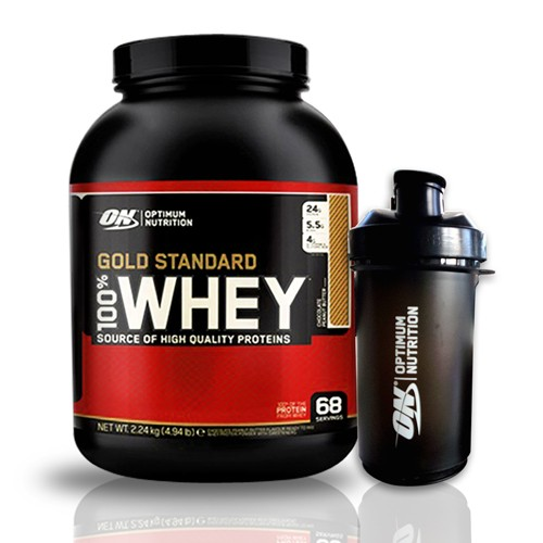 Optimum Nutrition 100% Whey Gold Standard 2270g Gratis Optimum Smart Shaker