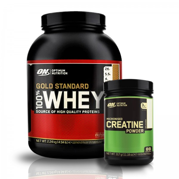 Optimum Nutrition 100% Whey Gold Standard 2270g Gratis Optimum Creatine 300 g