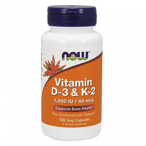 NOW Foods Vitamin D3 & K2 - 1000IU/45mcg